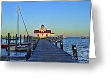 Roanoke Marches Lighthouse Greeting Card