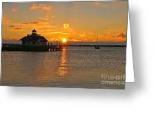 Roanoke Marshes Lighthouse 3210 Greeting Card