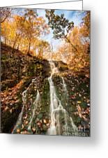 Waterfall - Roaring Brook Autumnlands Greeting Card