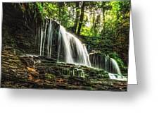 Roaring Forest Waterfall Greeting Card