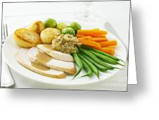 Roast Chicken Dinner Greeting Card by Colin and Linda McKie