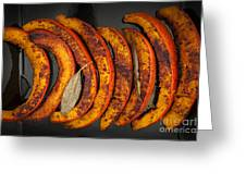 Roasted Pumpkin Slices Greeting Card