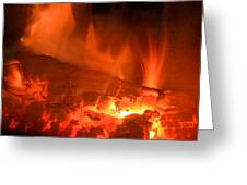 Face In The Fire Greeting Card
