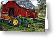 Rob Smith's Tractor Greeting Card by Lee Piper