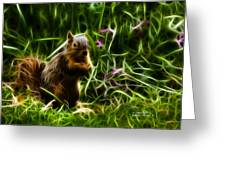 Robbie The Squirrel -0146 - F Greeting Card