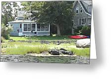 Robbin's Island Cottage Greeting Card