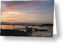 Robbin's Island Wharf Greeting Card