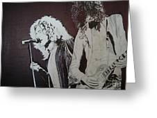 Robert And Jimmy Greeting Card by Stuart Engel