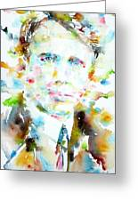 Robert Frost . Watercolor Portrait Greeting Card