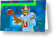 Robert Griffin IIi   Rg 3 Greeting Card