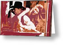 Robert Mitchum Hauls Angie Dickinson Collage Young Billy Young  Old Tucson Arizona 1968-2013  Greeting Card