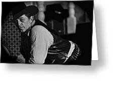 Robert Mitchum Leaning On Poker Table Young Billy Young Set Old Tucson Arizona 1969-2008 Greeting Card
