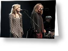Robert Plant And Alison Kraus Greeting Card