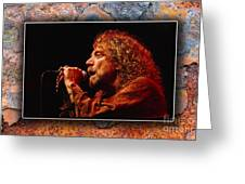 Robert Plant Art Greeting Card by Marvin Blaine