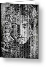 Robert Plant - Led Zeppelin Greeting Card