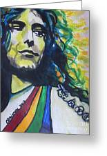 Robert Plant.. Led Zeppelin Greeting Card