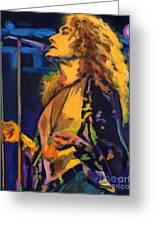 Robert Plant. Kashmir Greeting Card