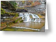 Robert Treman Waterfall Greeting Card