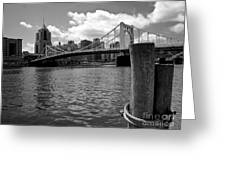 Roberto Clemente Bridge Pittsburgh Greeting Card by Amy Cicconi
