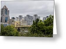 Roberto Clemente Bridge Pittsburgh Pa Greeting Card