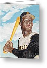 Roberto Clemente Greeting Card by Philip Lee