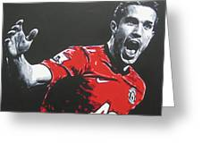 Robin Van Persie - Manchester United Fc Greeting Card
