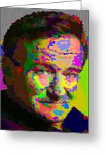 Robin Williams - Abstract Greeting Card