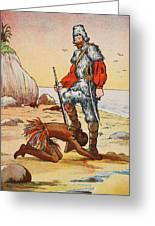 Robinson Crusoe And Friday Greeting Card