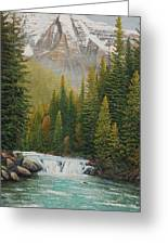 Robson River Falls Greeting Card