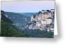 Rocamadour Midi Pyrenees France Panorama Greeting Card