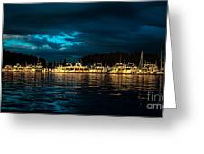 Roche Harbor  At Sunset Greeting Card