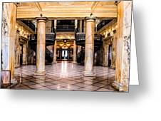 Rochester City Hall Main Hall Greeting Card