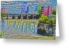 Rochester High Falls Greeting Card