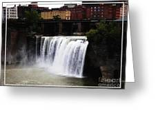 Rochester Ny High Falls Greeting Card