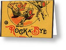 Rock A Bye Baby Sign With Cradle In Tree Branch.  Greeting Card