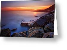 Rock A Nore Hastings Greeting Card by Mark Leader