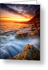Rock A Nore Splash Greeting Card by Mark Leader