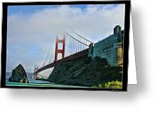 Rock And Golden Gate Greeting Card