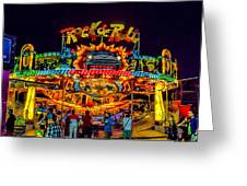 Rock And Roll On The Boardwalk Greeting Card