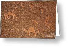 Rock Art At Wadi Rum In Jordan Greeting Card