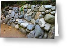 Rock Bench Greeting Card