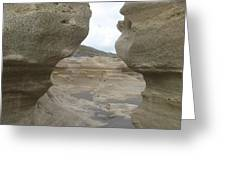 Rock Caves On The Beach Greeting Card