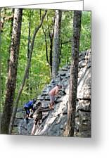 Rock Climbing Youths Greeting Card