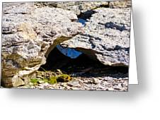 Rock Formation Devonian Fossil Gorge Greeting Card