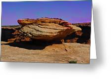 Rock Formation In Canyon De Chelly Greeting Card
