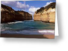 Rock Formations In The Ocean, Loch Ard Greeting Card
