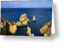 Rock Formations In The Sea, Algarve Greeting Card