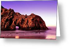Rock Formations On The Beach, Pfeiffer Greeting Card