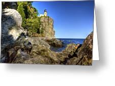 Rock Framed Split Rock Greeting Card
