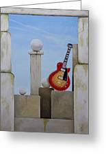 Rock Guitar Les Paul Custom Greeting Card